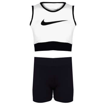 ست نیم تنه و شلوارک ورزشی زنانه کد 2923-W رنگ سفید             غیر اصل