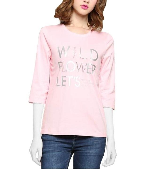 تی شرت آستین سه ربع زنانه  جین وست