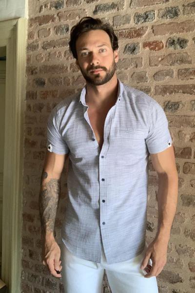 تصویر پیراهن مردانه اینترنتی مارک ترندیول مرد رنگ لاجوردی کد ty38960381