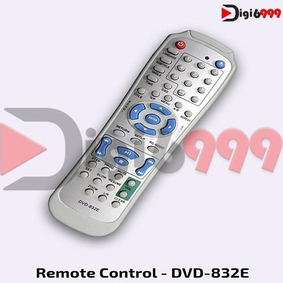 تصویر ریموت کنترل رایتی ویدئو پروژکتور مارشال مدل DVD-832E