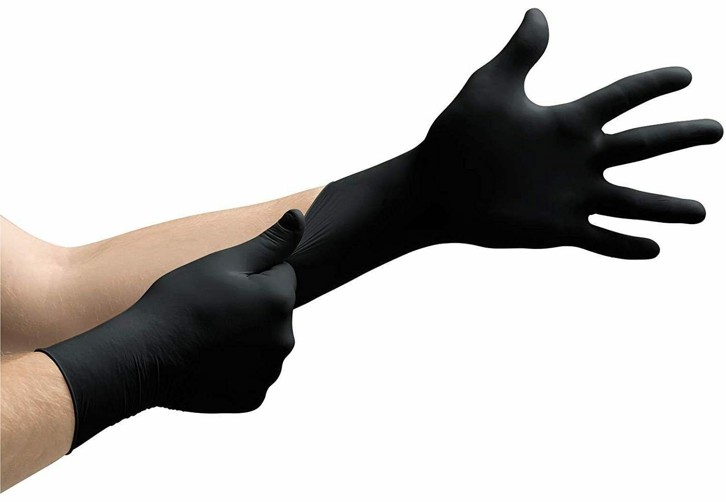 تصویر دستکش پزشکی نیتریل مشکی مای کلاو مالزی سایز مدیوم