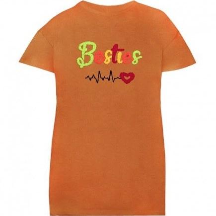 تصویر تی شرت زنانه و دخترانه طرح بست