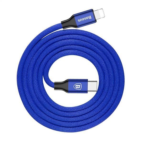 تصویر کابل تبدیل USB Type-C به Lightning باسئوس مدل Yiven طول 2 متر Baseus Yiven USB Type-C To Lightning Data Cable 2m