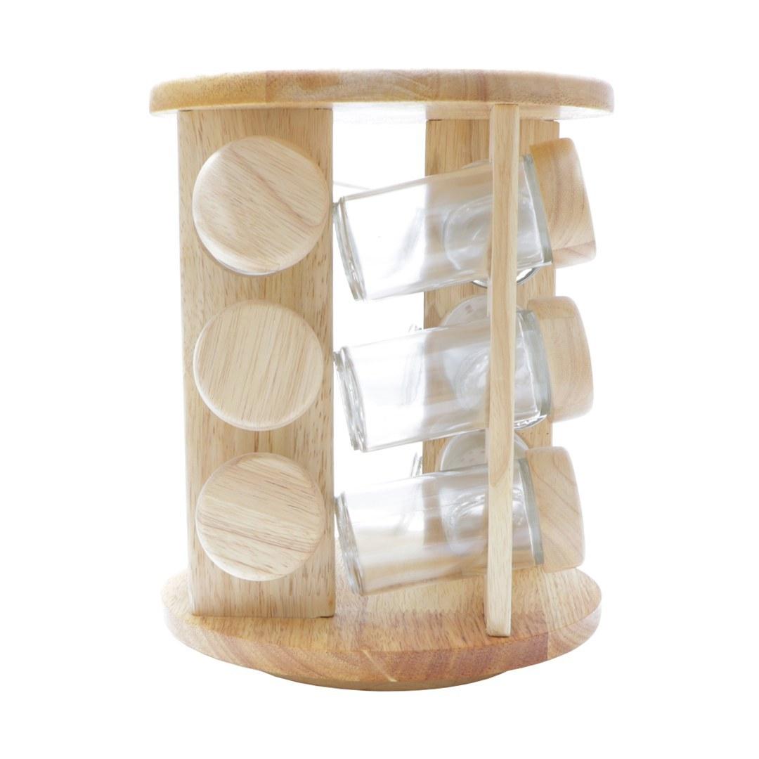 تصویر ست جا ادویه12 پارچه بامبو مدلLona Wood