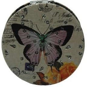 آینه جیبی طرح پروانه مدل 2-233942 |