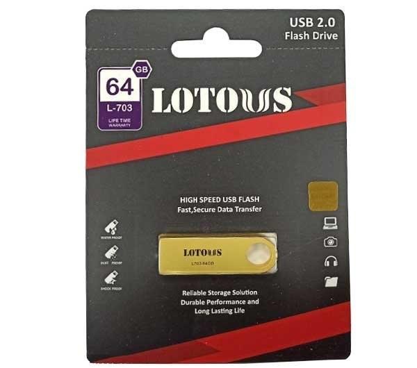 تصویر فلش مموری لوتوس مدل L703 ظرفیت 64 گیگابایت Lotous L703 Flash Memory 64GB
