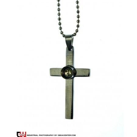 گردنبند صلیب استیل مدل انیران |