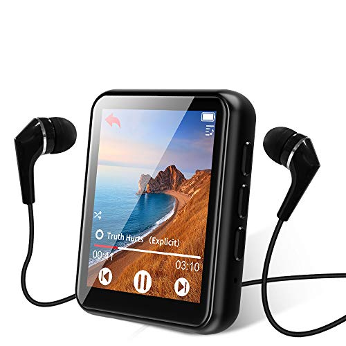 عکس پخش کننده موسیقی MP3 بلوتوث 5.0 پخش صفحه لمسی موسیقی پخش ... MP3 Player Bluetooth 5.0 Touch Screen Music Player 16GB Portable mp3 Player with Speakers high Fidelity Lossless Sound Quality mp3 FM Radio Recording e-Book 1.8 inch Screen MP3 Player Support (128GB) پخش-کننده-موسیقی-mp3-بلوتوث-50-پخش-صفحه-لمسی-موسیقی-پخش