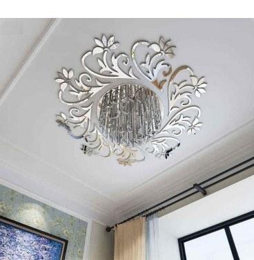 تصویر آینه سقفی تزئینی مدل گلستان