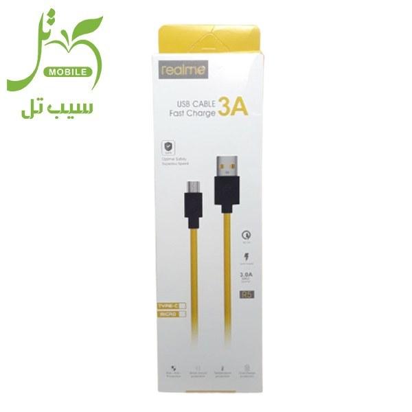 تصویر کابل اورجینال تایپ سی Realme مدل R5 فست شارژ