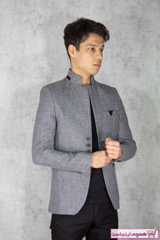 تصویر خرید ارزان کت تک  مردانه برند twenplus رنگ نقره ای کد ty76189500