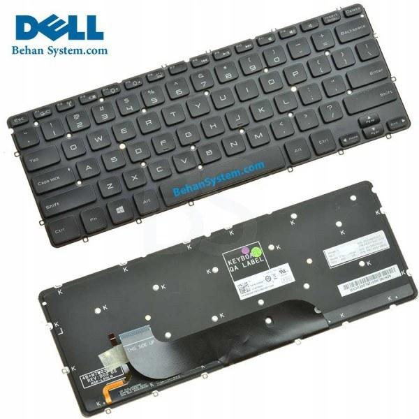تصویر کیبورد لپ تاپ Dell مدل XPS 13 L321X به همراه لیبل کیبورد فارسی جدا گانه