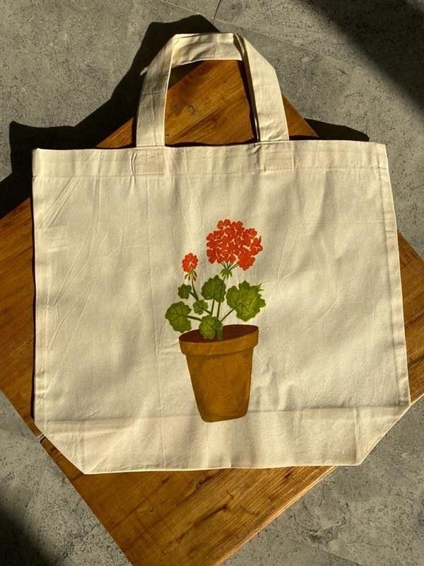 تصویر کیسه خرید طرح گلدان کد 13183181267