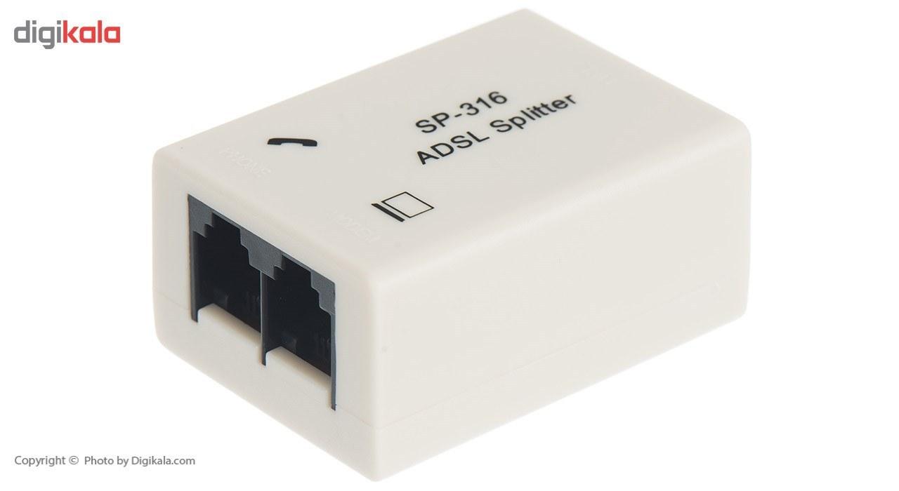 تصویر مودم روتر ADSL2 Plus بی سیم زایکسل مدل DEL1312-T10B ZyXEL ADSL2 Plus Wireless Modem Router