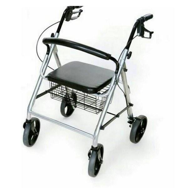 تصویر واکر متحرک چرخدار تاشو AZ ۹۶۶LH ا AZMED Folding Wheeled Walker AZ 966LH AZMED Folding Wheeled Walker AZ 966LH