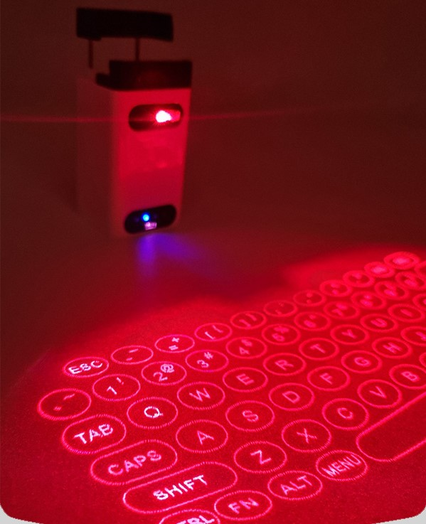 تصویر کیبورد مجازی شیائومی laser Projection Keyboard Bluetooth Wireless 3D Infrared Light Sense Notebook Keyboard