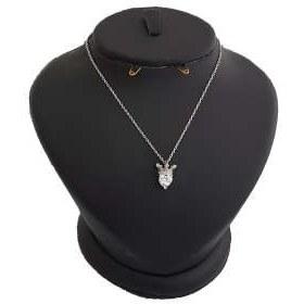 گردنبند نقره زنانه ترمه 1 طرح تاج و قلب کد Me 309