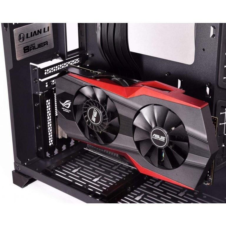 تصویر Lian Li O11D-1X Vertical GPU Lian Li O11D-1X Vertical GPU Bracket KIT PCI-E 3.0 for O11 Dynamic Only (NOT Compatible with PCI-E 4.0 VGA Card)
