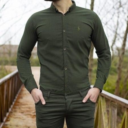 پیراهن مردانه زیتونی POLO