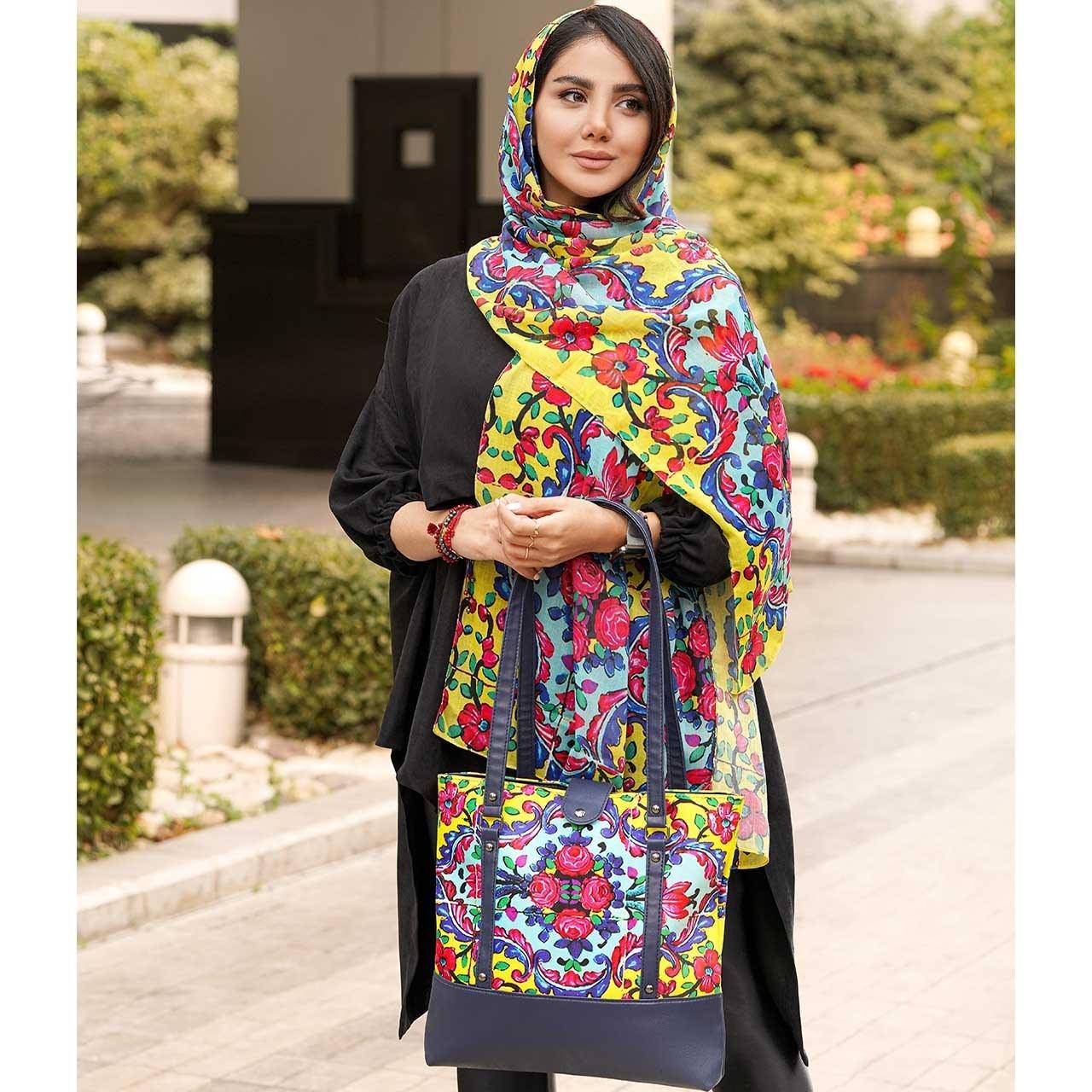 تصویر ست کیف و شال زنانه ارکیده کد 15 Orkideh Women  Bag  and  Shawl  Set Code 15