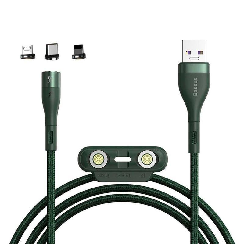 تصویر کابل تبدیل USB به USB-C/microUSB-لایتنینگ باسئوس مدل CA1T3-AG1 طول 1 متر
