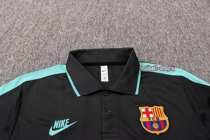 تصویر پولوشرت مشکی آبی اورجینال +A درجه یک 2020 بارسلونا-Nike