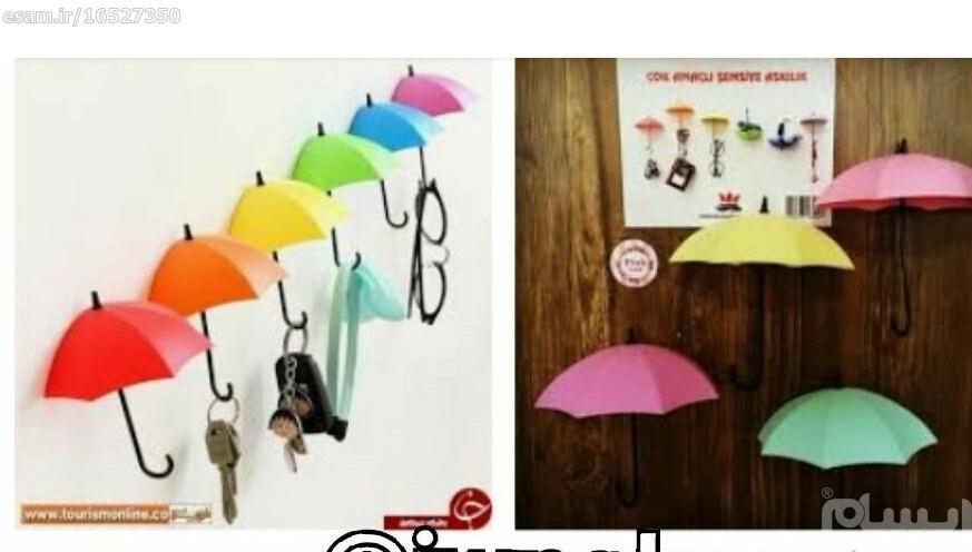 جاکلیدی دیواری فانتزی طرح چتر