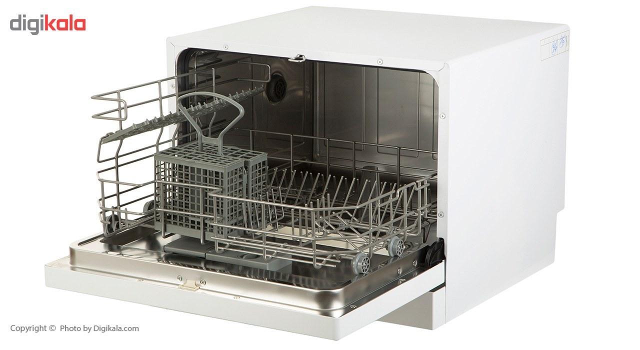 img ماشین ظرفشویی رومیزی زیرووات مدل ZDCF6 ZEROWATT ZDCF6 dishwasher
