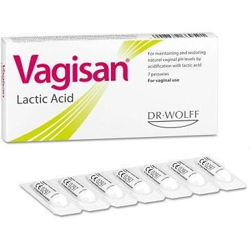 شیاف واژینال اسید لاکتیک واژیسان دکتر وولف 7 عددی | Dr Wolff Vagisan Lactic Acid Supp 7 Pcs