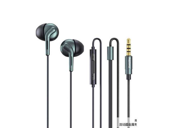 تصویر هندزفری سیمی ریمکس Remax RM-595 Dubbele Moving Coil Semi-In-Ear Wired Headset