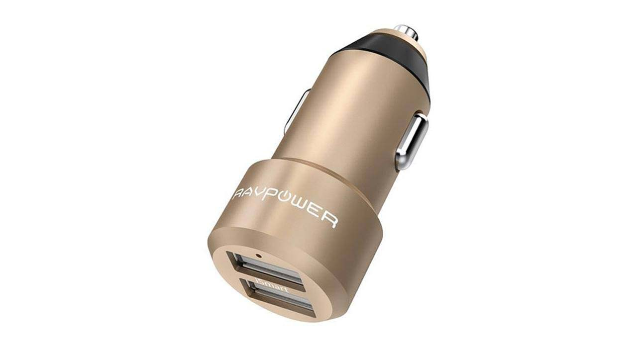 img شارژر فندکی راو پاور مدل RP-VC006|طلایی RAVPower RP-VC006 Car Charger