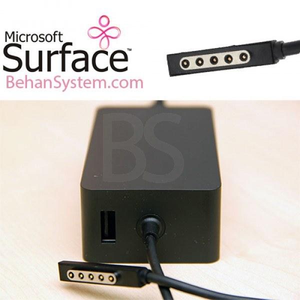 تصویر شارژر 48W تبلت مایکروسافت مدل Surface