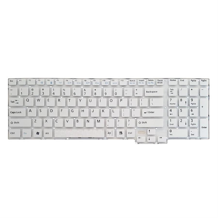 تصویر Lifebook AH532 White Without Frame Laptop Keyboard کیبورد لپ تاپ فوجیتسو مدل Lifebook AH532 سفید اینترکوچک بدون فریم