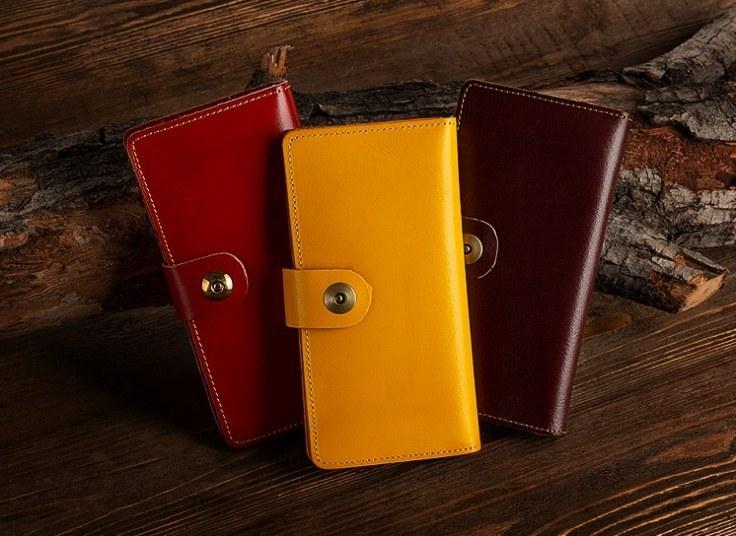 کیف پول و موبایل چرم طبیعی