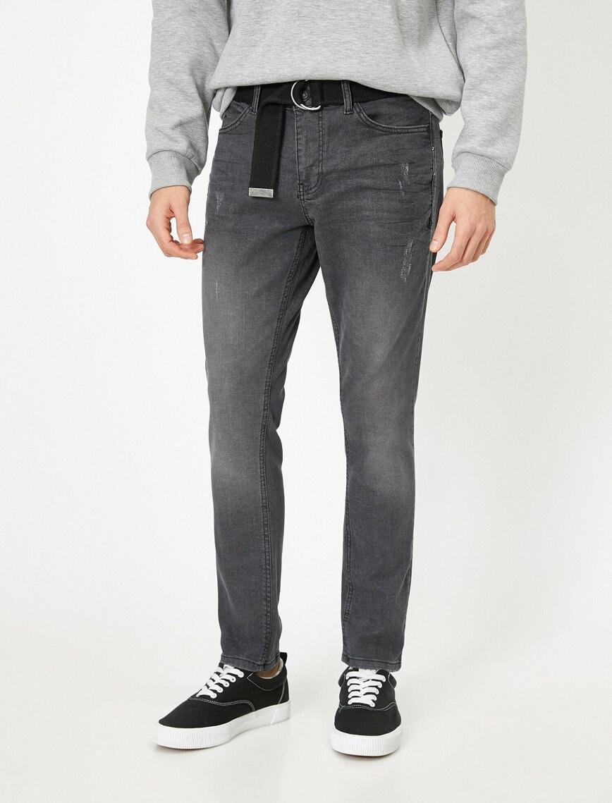 تصویر شلوار جین زاپ دار مردانه