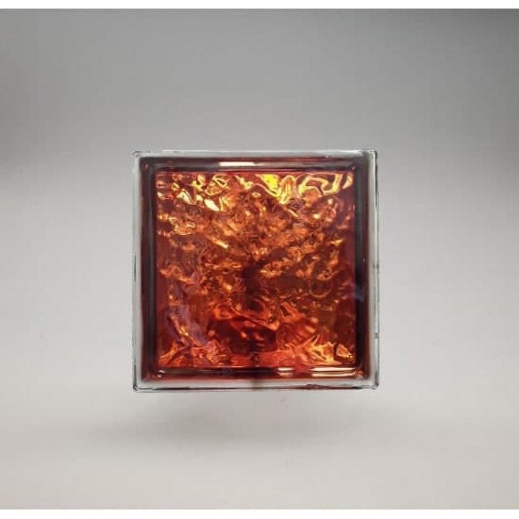 تصویر بلوک شیشه ای کاوه مدل چکشی نارنجی