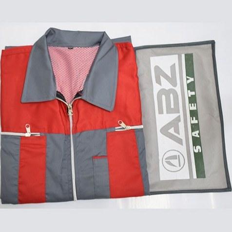 ابزارسرا - لباس كار دو تکه نيک بافت فلامنت ويسکوز مدل سيلوری طوسی/قرمز- سايز XL | TWO PIECE WORK-WEAR NBFV SILVERY MODEL GRAY-RED XL