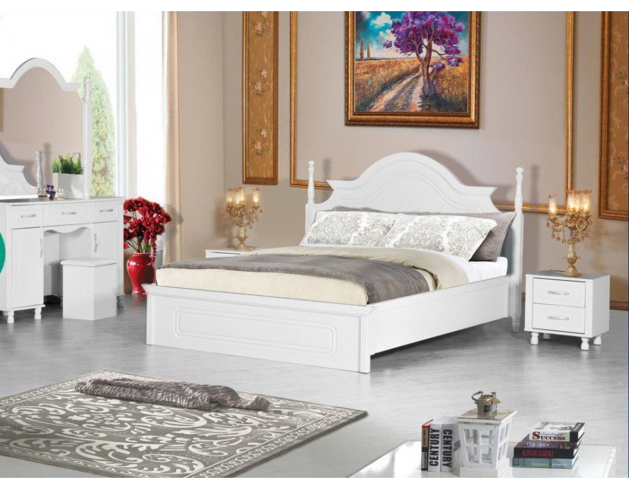 تخت خواب عروس سفید مارال |