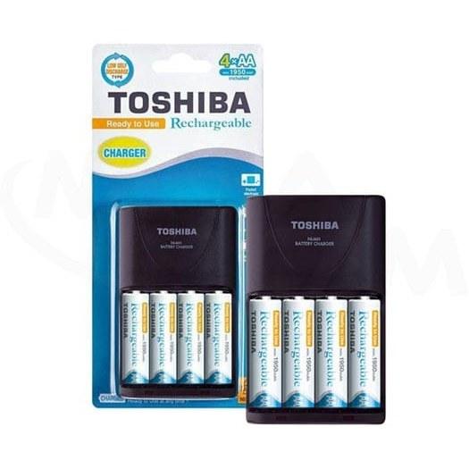 تصویر شارژر باتری توشیبا مدل TNHC-VE 64MC به همراه 4 عدد باتری قلمی Toshiba Battery Charger TNHC-VE 64MC