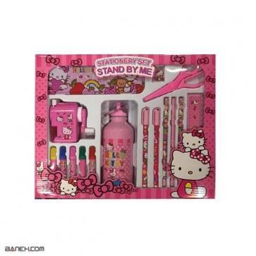 ست 17 تکه لوازم تحریر دخترانه Stand By Me Hello Kitty Stationery Set   Stand By Me Hello Kitty Stationery Set 17 pcs