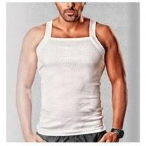 زیرپوش پنبه ای یقه خشتی مردانه سفید