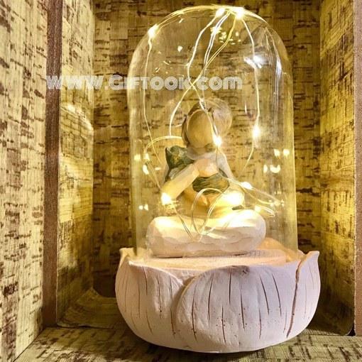 تندیس چراغدار مجسمه عاشقانه داخل شیشه