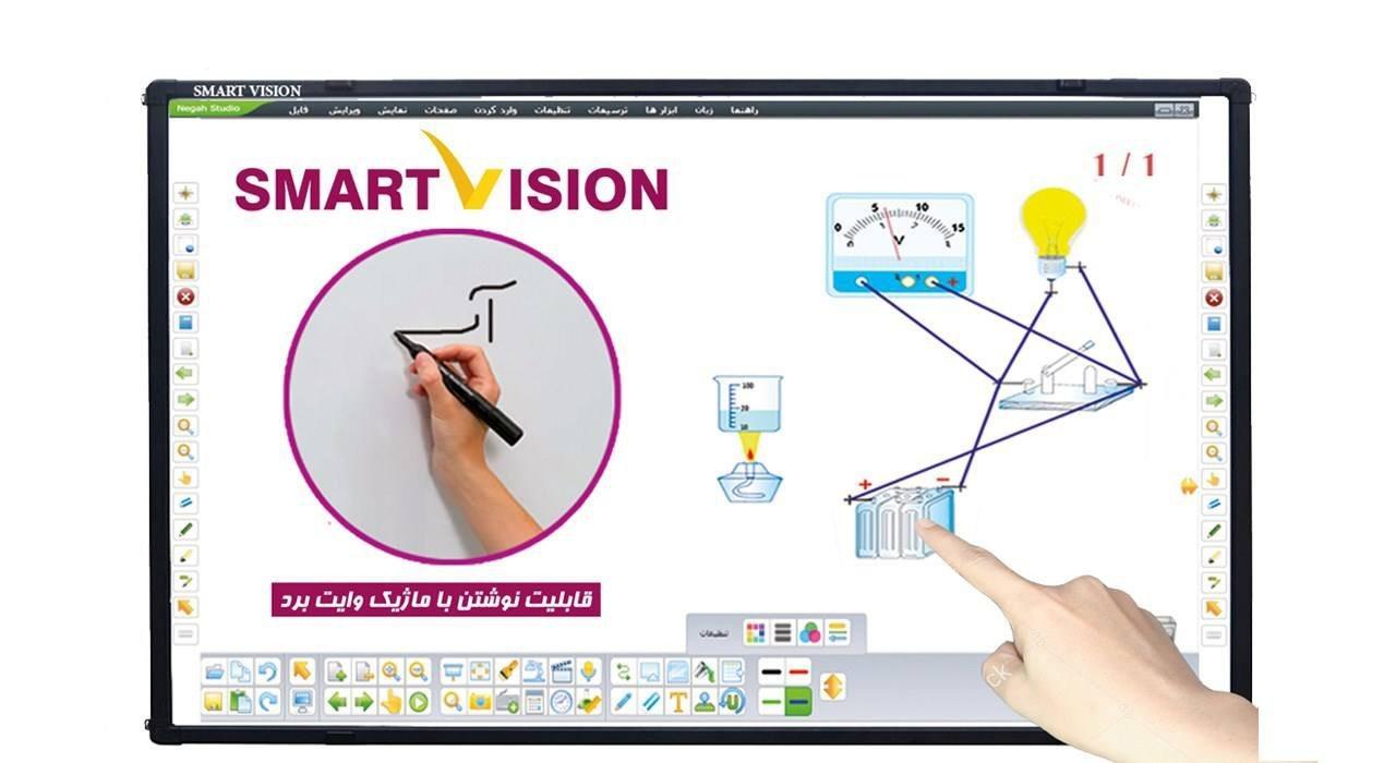 تصویر برد هوشمند اسمارت ویژن مدل IR-8210C Smart Vision IR-8210C Smart Board