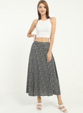 تصویر دامن زنانه ساده برند Giyimsel رنگ مشکی کد ty120844252