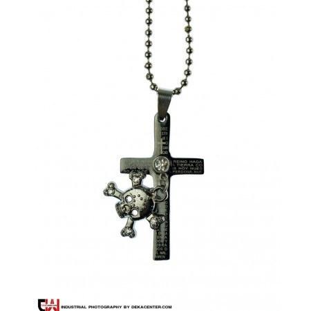 گردنبند صلیب استیل مدل آپامه |