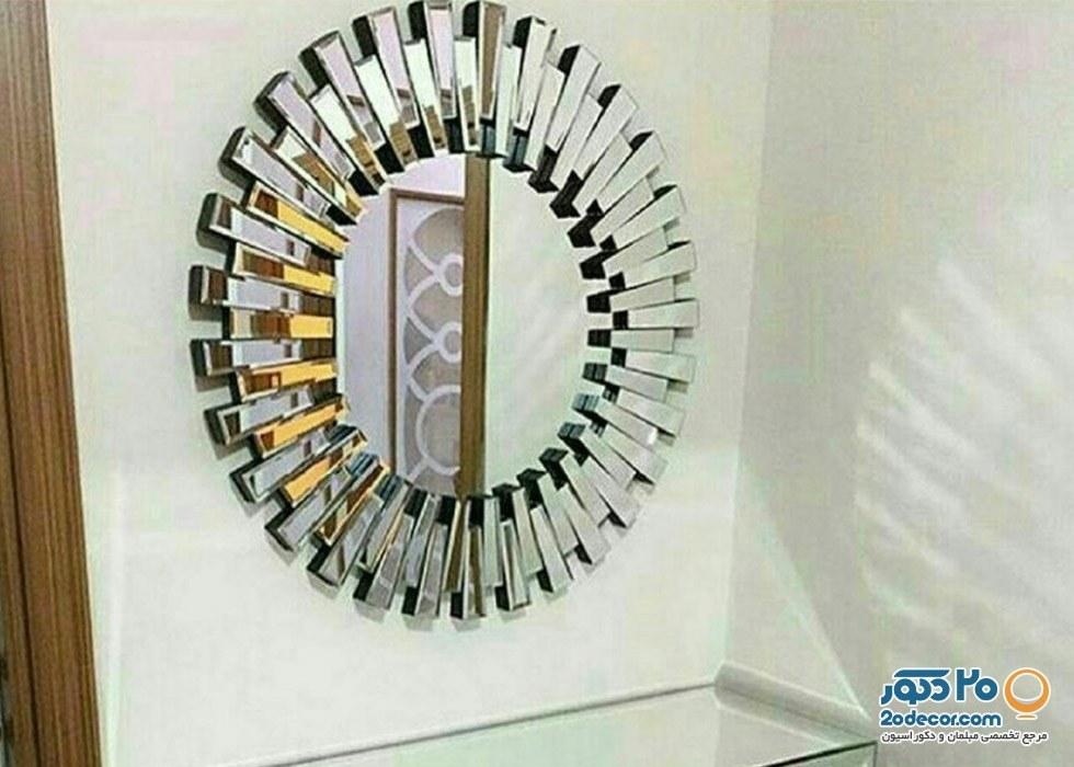 آینه شهر دکور مدل خورشیدی |