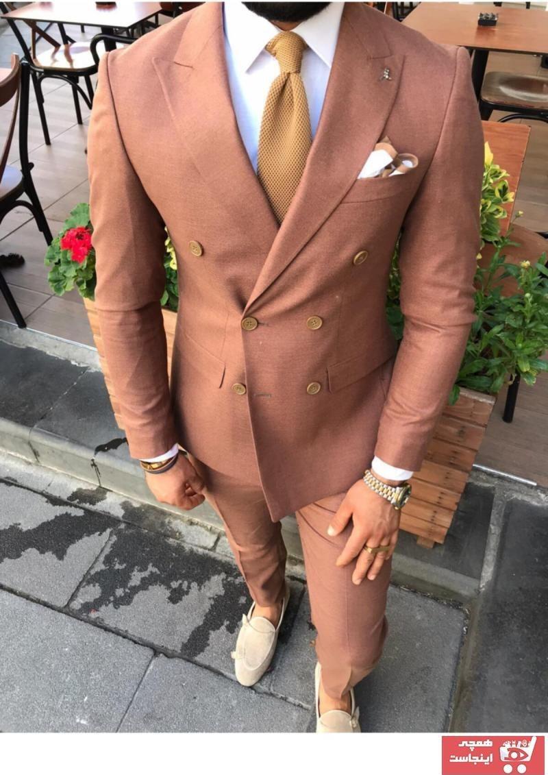 تصویر کت شلوار  مردانه برند Fc Plus رنگ قهوه ای کد ty57604901