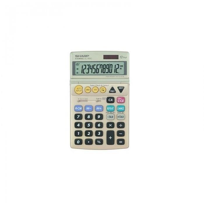 تصویر ماشین حساب شارپ مدل EL-782C  بژ SHARP EL-782C Calculator