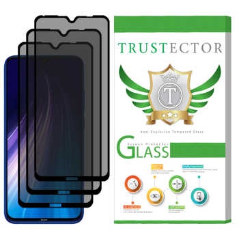 محافظ صفحه نمایش حریم شخصی تراستکتور مدل PSP مناسب برای گوشی موبایل شیائومی Redmi Note 8 بسته 3 عددی  