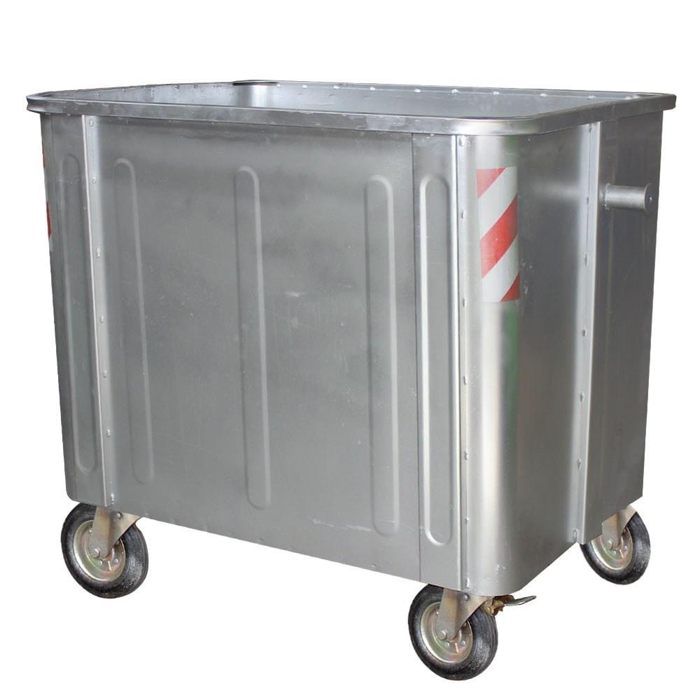 تصویر مخزن زباله فلزی 1100 لیتری مکعب بدون درب (ورق 2)